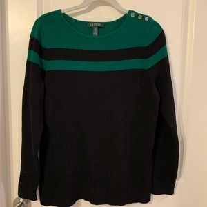 Lauren Ralph Lauren striped sweater.